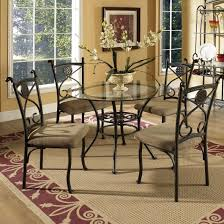 glass top dining room set steve silver brookfield round glass top dining table u0026 4 side