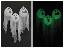 halloween glow in the dark ghost decorations handmade by kelly