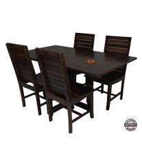 foldable dining table and chairs angel s modish solid sheesham wood dining table set walnut finish