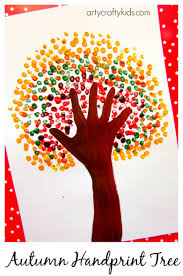 first thanksgiving for kids autumn handprint tree crafty kids art art and autumn