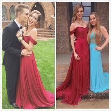 custom made off shoulder dark red long prom dresses long evening
