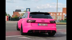pink audi modified cars leaving a car show all down 2017 youtube