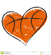 heart shaped basketball clipart black and white clipartxtras