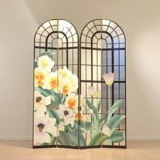 Metal Room Divider Large Punched Metal Room Divider Screen 1970s 67424