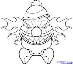 25 scary clown drawing ideas creepy drawings