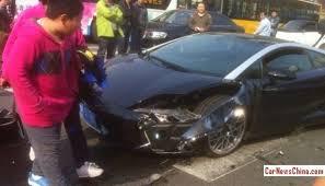 silver lamborghini gallardo black and silver lamborghini gallardo crashes in china
