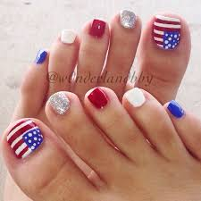 4th of july pedicure nail art love these so much they u0027re still on