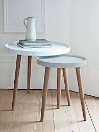 Small Side Desk Small White Side Table With Best 25 Nesting Tables