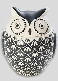 a cute little hand painted owl canister 20cm x 11cm matalan
