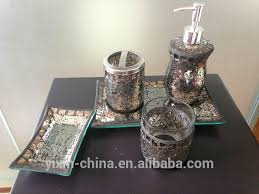 remarkable silver crackle glass bathroom accessories ideas best
