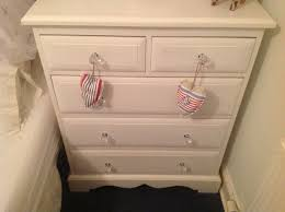 old pine drawers new crystal knobs and a lick of white eggshell