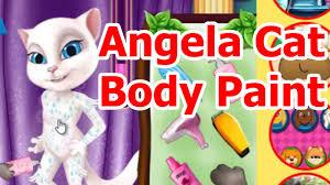 barbie games angela cat body paint