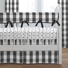 Black And White Crib Bedding For Boys Black Buffalo Check Crib Bedding Carousel Designs