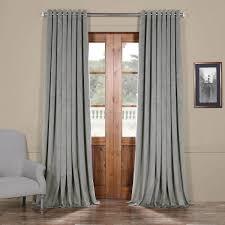 silver grey extra wide grommet blackout velvet curtain
