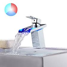 Bathroom Faucet Ideas Colors Tapcet Bathroom Faucet Led Waterfall Kitchen Sink Faucet 3