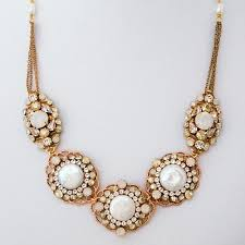pearl rose gold necklace images Haute bride jewelry rose gold coin pearl opal necklace jpg