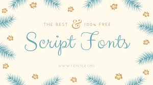 34 best script fonts for 2017 with free download