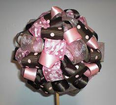 How To Make Ribbon Topiary Centerpieces by Chloe U0027s Inspiration A Polka Dot Party Ribbon Topiary