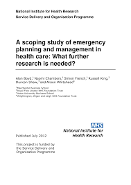 best oil ls emergency preparedness a scoping study of emergency planning and pdf download available