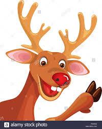 christmas reindeer rudolph happy christmas reindeer stock vector