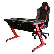 Gaming Desk Kinsal Gaming Desk Computer Z Shaped Desk Table With Fighting Led
