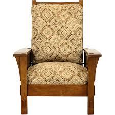 Vintage Recliner Chair Stickley Signed Craftsman Oak Vintage Morris Recliner Chair New