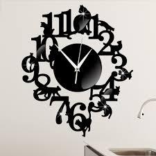 Decorative Wall Clocks For Living Room Online Get Cheap Wall Clock Cat Aliexpress Com Alibaba Group