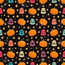 halloween seamless background seamless background for halloween with pumpkins cute ghosts