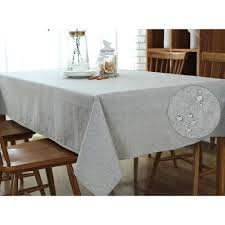 tablecloth for coffee table grey linen cotton coffee table cloth wipe clean rectangle