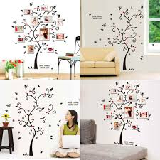 compare prices on frames wallpapers online shopping buy low price liplasting 1pc vinyl family tree wall sticker decal diy photo frame tree wallpaper stickers for living