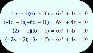 factoring a trinomial