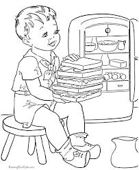big sandwich cute coloring picture print color desenhos