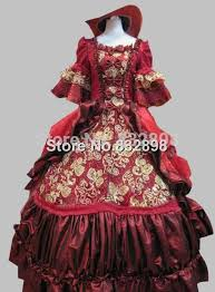 Victorian Dress Halloween Costume Aliexpress Buy 17 18th Century Baroque Rococo Dark Red Marie