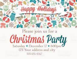 Sample Invitation Card For Christmas Party Retro Inspired Christmas Party Invitation Template Stock Vector