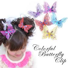 hair accessories for kids tenshinodoresuyasan rakuten global market colorful butterfly
