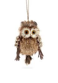 raz 8 white feather owls set 2 use for tree wreath