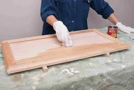 how to stain and seal unfinished cabinets how to stain and finish wood cabinets