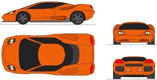 lamborghini kanto coupe blueprints free outlines