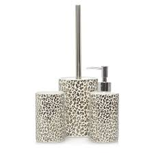 Cheetah Print Bathroom Set by Leopard Print Bath Accessories Range Bathroom Accessories