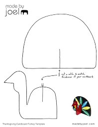 printable turkey without feathers free template thanksgiving