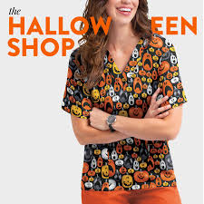 5 halloween scrub tops for all of your favorite ghoulish