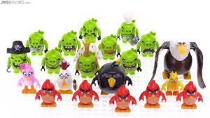 all lego angry birds figures together in one video