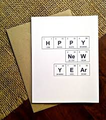 happy new year paper cards happy new year chemistry periodic table of the elements hppy new