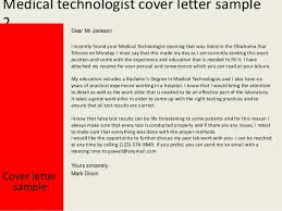 Medical Laboratory Technologist Resume Sample by Medical Technologist Cover Letter
