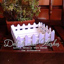 centerpiece white fence wooden box for cake pop stand kitchen