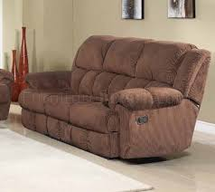 Fabric Reclining Sofa Reclining Sofa In Brown Fabric W Optional Items