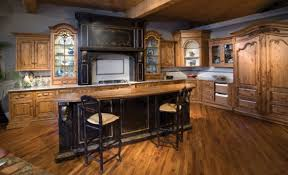wood kitchen ideas kitchen fancy wood cabinets with custom stove