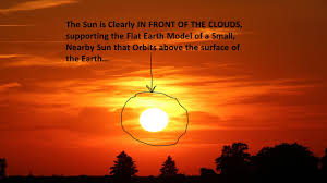 proof the sun flat earth sunsets flat earth thought