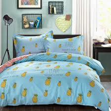 sky blue yellow and green fruit pineapple print rustic style