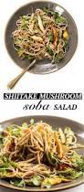 shiitake mushroom soba salad